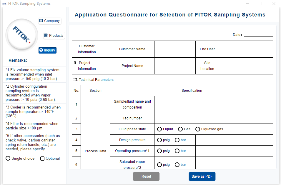 FITOK Sampling Systems Software